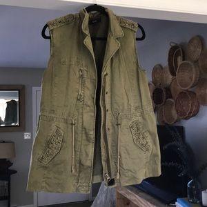 Forever 21 Embellished Utility Vest